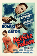 "Movie Posters:Film Noir, The Maltese Falcon (Warner Bros., 1941). Very Fine on Linen. One Sheet (27"" X 41"").. ..."