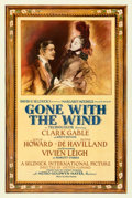 "Movie Posters:Academy Award Winners, Gone with the Wind (MGM, 1939). Fine+ on Linen. Roadshow One Sheet (27.5"" X 41"") Style CF, Armando Seguso Artwork.. ..."