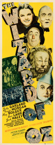 "Movie Posters:Fantasy, The Wizard of Oz (MGM, 1939). Folded, Fine. Insert (14"" X 36"") Al Hirschfeld Artwork.. ..."
