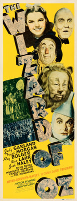 "The Wizard of Oz (MGM, 1939). Folded, Fine. Insert (14"" X 36"") Al Hirschfeld Artwork"