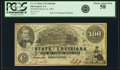 Obsoletes By State:Louisiana, Shreveport, LA- State of Louisiana $100 Mar. 10, 1863 Cr. 11 PCGS Choice About New 58.. ...