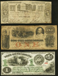 Charleston, SC- Bank of the State of South Carolina $1 (2) 1861-62 Very Good or Better; Columbia, SC... (Total: 3)