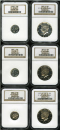 Proof Roosevelt Dimes: , 1962 10C PR65 NGC, fully struck with a bright, flashy, ... (6Coins)