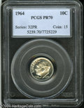 Proof Roosevelt Dimes: , 1964 10C PR70 PCGS. Bright surfaces are untoned and ...