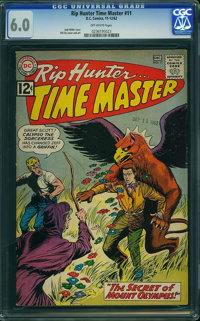 Rip Hunter Time Master #11 (DC, 1962) CGC FN 6.0 Off-white pages