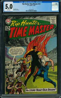 Rip Hunter Time Master #12 (DC, 1963) CGC VG/FN 5.0 White pages