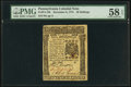 Pennsylvania December 8, 1775 40s PMG Choice About Unc 58 EPQ