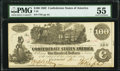 Confederate Notes:1862 Issues, T39 $100 1862 PF-5 Cr. 290 PMG About Uncirculated 55.. ...