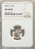 Mercury Dimes: , 1941-S 10C MS68 Full Bands NGC. NGC Census: (20/0). PCGS Population: (19/0). Mintage 43,090,000. ...