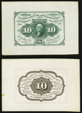 Fr. 1243SP 10¢ First Issue Wide Margin Pair Extremely Fine. ... (Total: 2 notes)