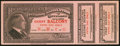 Republican National Convention Cleveland June 1924 Fifth Day Guest Ticket with Two Coupons Choice Crisp Uncirculated...