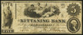 "Kittaning (sic), PA- ""Kittaning"" Bank Altered $5 Jan. 4, 1862 A5 Fine"