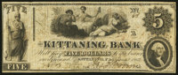 """Kittaning (sic), PA- """"Kittaning"""" Bank Altered $5 Jan. 4, 1862 A5 Fine"""