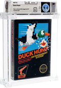 Video Games:Nintendo, Duck Hunt - Wata 9.4 A+ Sealed [Rev-A, Round SOQ, Later Production], NES Nintendo 1985 USA....