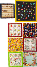 Luxury Accessories:Accessories, Gucci Set of Eight: Assorted Silk Scarves and Cotton Pareo. Condition: 3. See Extended Condition Report for Sizes...... (Total: 8 )