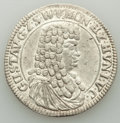 German States:Sayn-Wittgenstein-Hohnstein, German States: Sayn-Wittgenstein-Hohenstein. Gustav 2/3 Taler 1676 AU (Cleaned, Surface Hairlines),...