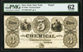New York, NY- Chemical Bank $3 18__ G18 Proof PMG Uncirculated 62