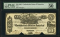 Confederate Notes:1861 Issues, T29 $10 1861 PF-1 Cr. 237 PMG About Uncirculated 50.. ...