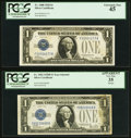 Fr. 1600 $1 1928 Silver Certificate. PCGS Extremely Fine 45; Experimental Y-B Block Fr. 1602 $1 1928B Silver Certificate...