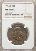 Franklin Half Dollars, 1954-D 50C MS66 Full Bell Lines NGC. NGC Census: (35/2). PCGS Population: (220/4). CDN: $550 Whsle. Bid for NGC/PCGS MS66. ...