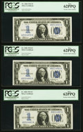 Fr. 1606 $1 1934 Silver Certificates. Three Examples. PCGS New 62PPQ. ... (Total: 3 notes)