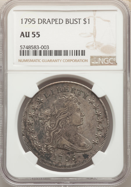 1795 S$1 Draped Bust, Centered 55 NGC
