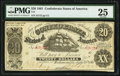 Confederate Notes:1861 Issues, Fully Framed T9 $20 1861 PMG Very Fine 25.. ...
