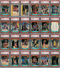 1986 Fleer Basketball Cards & Stickers Complete Set (132+11) - All Graded PSA Gem Mint 10!