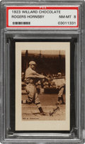 Baseball Cards:Singles (Pre-1930), 1923 V100 Willard Chocolate Rogers Hornsby PSA NM-MT 8 - Pop One, None Higher! ...