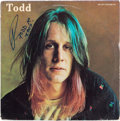 Music Memorabilia:Autographs and Signed Items, Todd Rundgren Signed and Inscribed Todd Vinyl LP (Bearsville, 2 BR 6952)....