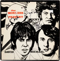 Music Memorabilia:Autographs and Signed Items, The Monkees Signed Present Vinyl LP (Rhino, RNLP 147)....