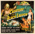 "Movie Posters:Horror, Creature from the Black Lagoon (Universal International, 1954). Fine+ on Linen. Six Sheet (81"" X 79.5""). Reynold Brown Artwo..."