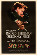 "Movie Posters:Hitchcock, Spellbound (United Artists, 1945). Very Fine- on Linen. One Sheet (27"" X 41"").. ..."
