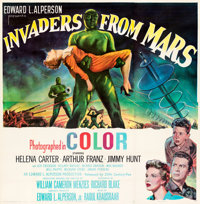 "Invaders from Mars (20th Century Fox, 1953). Very Fine+ on Linen. Six Sheet (81"" X 81"")"