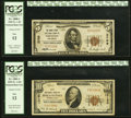 Trenton, NJ - $5 1929 Ty. 1 The Broad Street National Bank Ch. # 3709 PCGS Fine 12; Phila... (Total: 2)