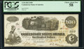 Confederate Notes:1862 Issues, T40 $100 1862 PF-1 Cr. 298 PCGS Choice About New 58.. ...