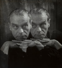 Imogen Cunningham (American, 1883-1976) The Poet & His Alter Ego and James Broughton (2 works), circa 1962 Gelatin...