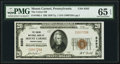 National Bank Notes:Pennsylvania, Mount Carmel, PA - $20 1929 Ty. 1 The Union National Bank Ch. # 8393 PMG Gem Uncirculated 65 EPQ.. ...