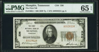Memphis, TN - $20 1929 Ty. 1 The First National Bank Ch. # 336 PMG Gem Uncirculated 65 EPQ