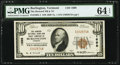 National Bank Notes:Vermont, Burlington, VT - $10 1929 Ty. 1 The Howard National Bank & Trust Company Ch. # 1698 PMG Choice Uncirculated 64 EPQ....