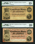 Confederate Notes:1864 Issues, T64 $500 1864 PF-2 Cr. 489 PMG Very Fine 25;. T64 $500 1864 PF-3 Cr. 489B PMG Very Fine 20 Net.. ... (Total: 2 notes)