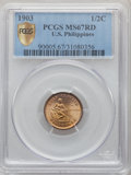 1903 1/2C Philippines Half Centavo MS67 Red PCGS. PCGS Population: (3/0). NGC Census: (0/0). From The Mahal Collecti...(...