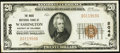 National Bank Notes:District of Columbia, Washington, DC - $20 1929 Ty. 1 The Riggs National Bank Ch. # 5046 Very Fine-Extremely Fine.. ...