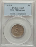 Philippines, 1917-S 5C Philippines 5 Centavos MS65 PCGS. PCGS Population: (2/1). . From The Mahal Collection, ...