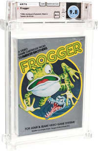 Frogger - Wata 9.8 A++ Sealed [No Stripe, Early Production], 2600 Parker Brothers 1982