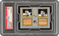 Baseball Cards:Singles (1970-Now), 2001 SP Legendary Cuts Babe Ruth/Ty Cobb (Bat Combo) #TC-BR PSA NM 7 - #'d 10/25....