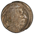 Errors, 1918-D 5C Buffalo Nickel -- Struck 5% Off Center, Scratch -- PCGS Genuine. Unc Details. Mintage 8,362,000....