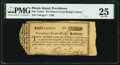 Obsoletes By State:Rhode Island, Providence, RI- Providence Great Bridge Lottery 1 Lottery Ticket Oct. 30, 1790 PMG Very Fine 25.. ...