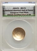 2014-W $5 Baseball Hall of Fame Gold Five Dollar MS70 ANACS. Mintage 17,674. ...(PCGS# 525643)