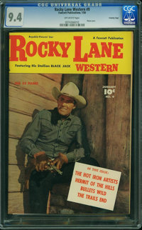Rocky Lane Western #9 - Crowley Copy (Fawcett Publications, 1950) CGC NM 9.4 Off-white pages